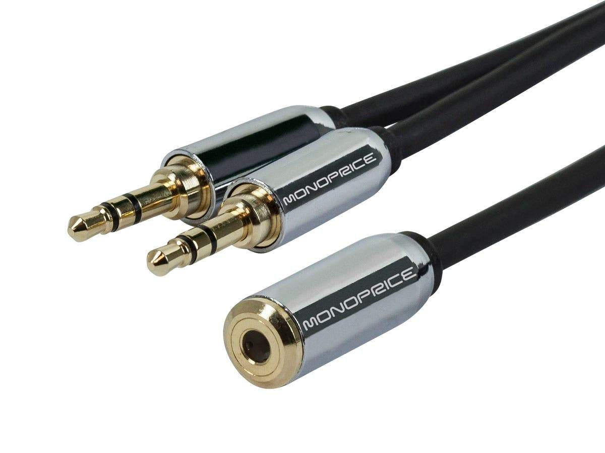 Designed for Mobile 6inch 3.5mm Stereo Jack Splitter by Monoprice