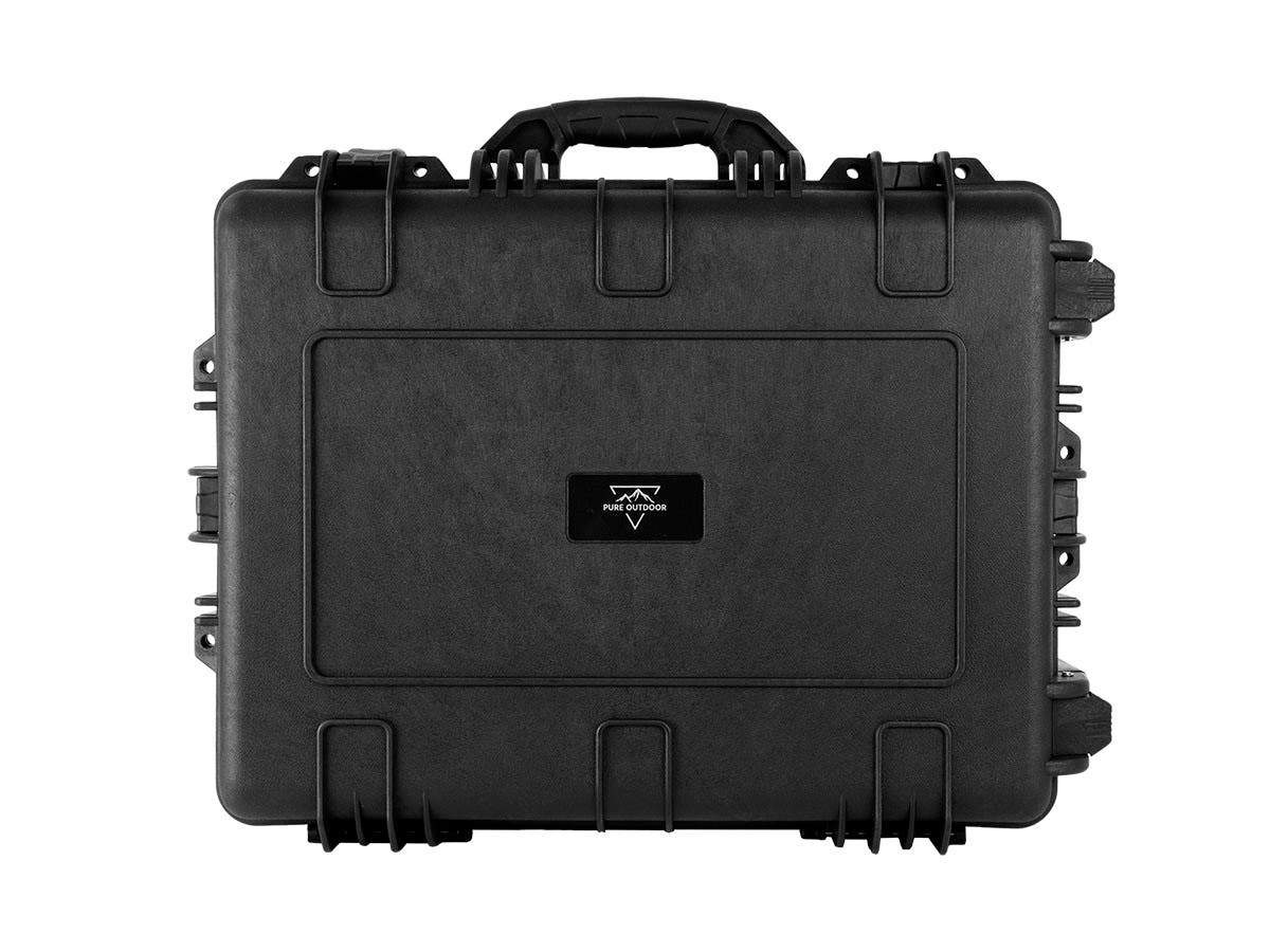 "Weatherproof Hard Case with Wheels and Customizable Foam, 63 x 48 x 27 cm (25"" x 19"" x 11"") by Monoprice"