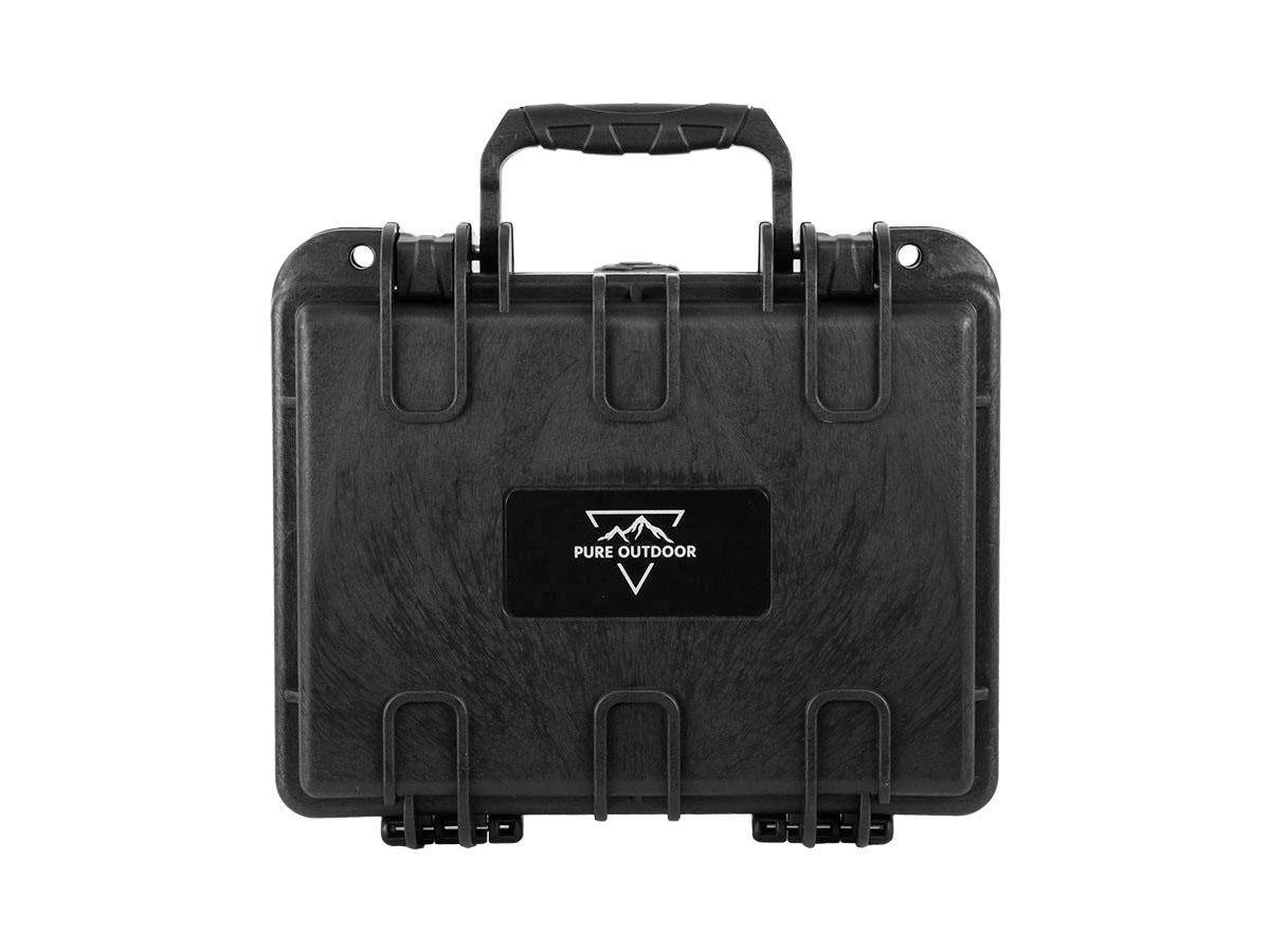 "Weatherproof Hard Case with Customizable Foam, 25 x 20 x 10 cm (10"" x 8"" x 4"") by Monoprice"