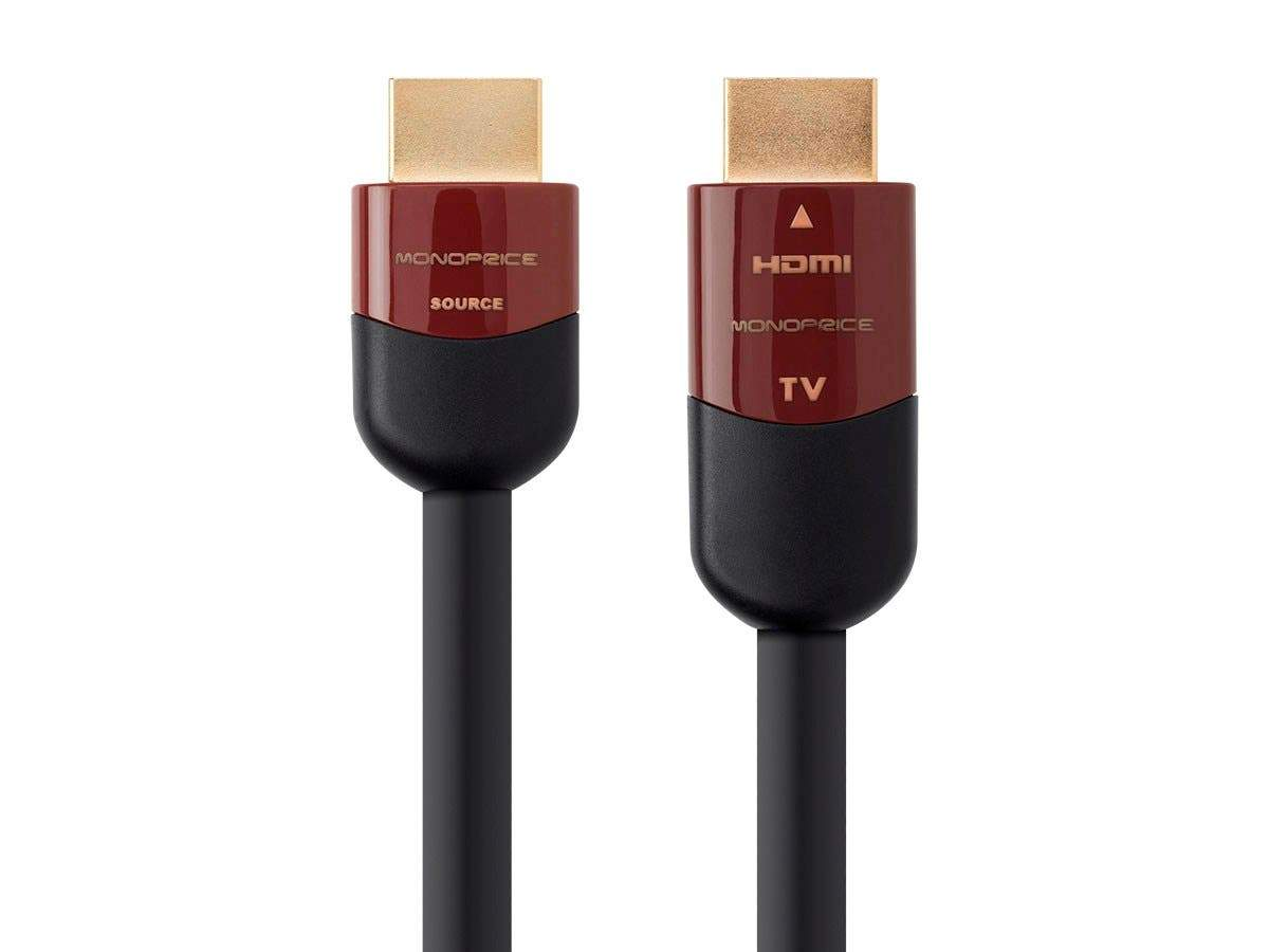 Cabernet Ultra Series Active High Speed HDMI Cable - 4K@60Hz HDR 18Gbps 28AWG YCbCr 4:4:4 CL2 Black by Monoprice