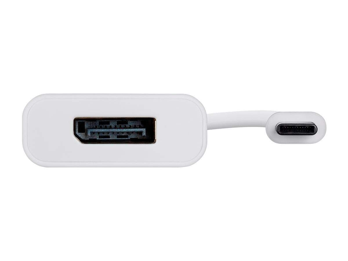 USB-C to DisplayPort Adapter - White, Supports Resolution 4K @60hz, Portable, Plug & Play - Select Series by Monoprice