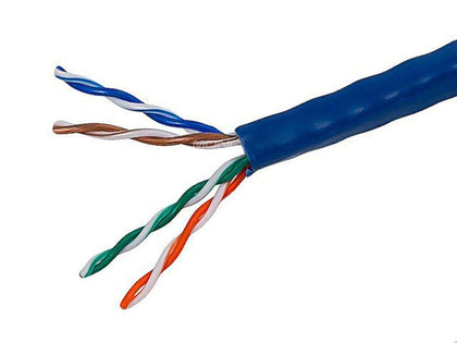 Cat5e Ethernet Bulk Cable - Solid  350Mhz  UTP  CMR  Riser Rated  Pure Bare Copper Wire  24AWG  500ft by Monoprice