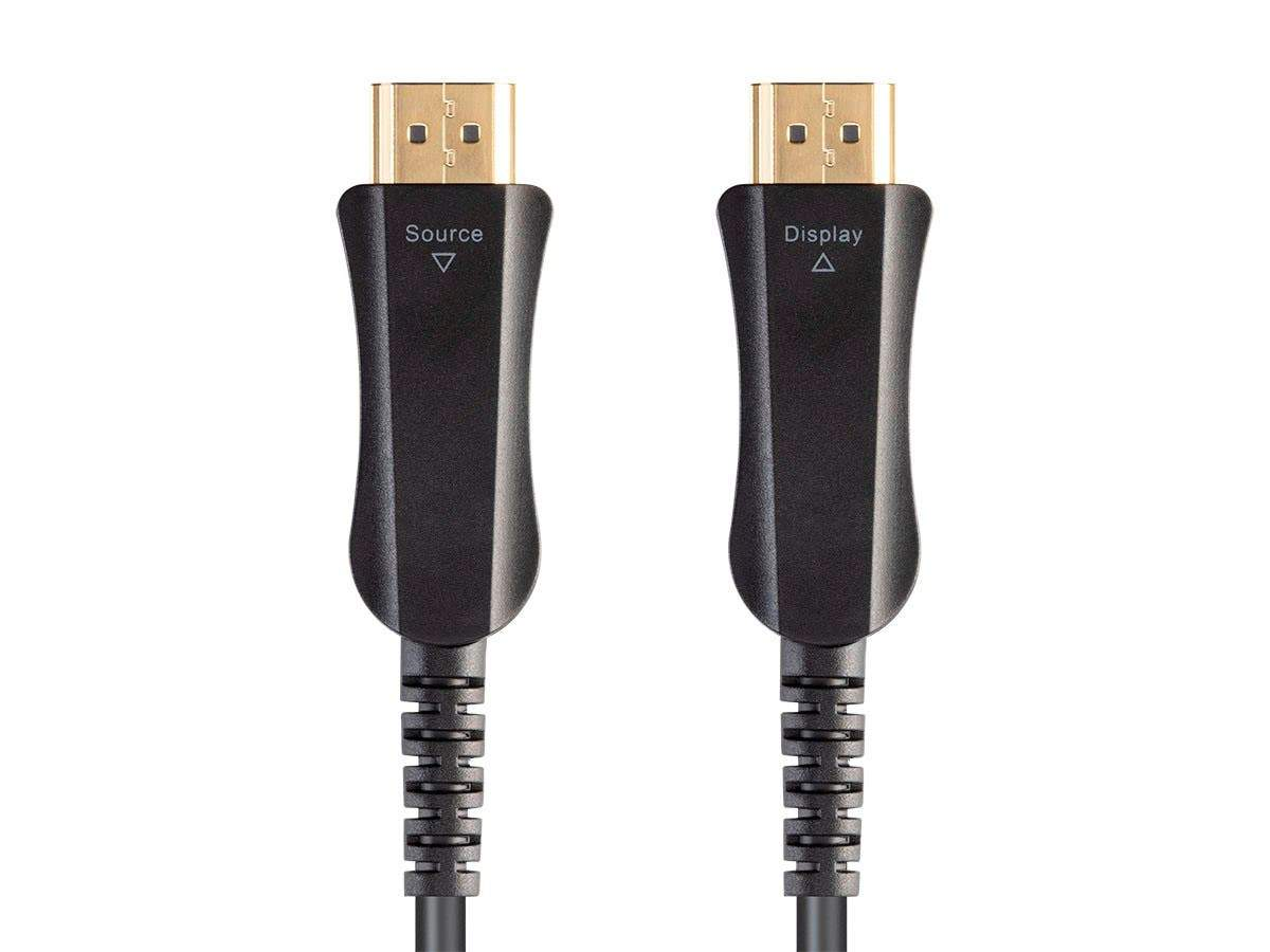 SlimRun AV HDR High Speed Cable for HDMI-Enabled Devices - 4K@60Hz  18Gbps  Fiber Optic  AOC  YUV 4:4:4 Black by Monoprice