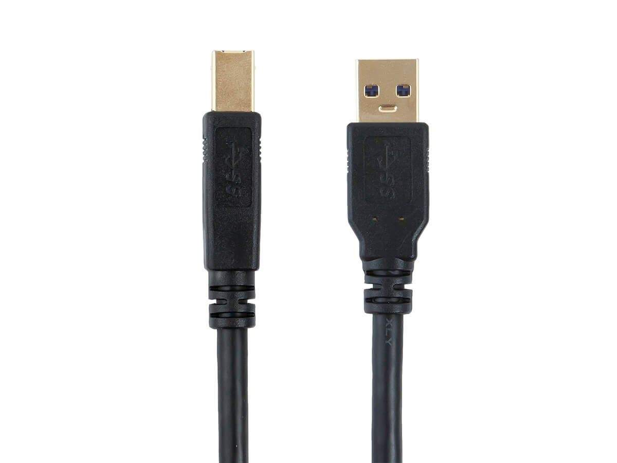 USB 3.0 A to B Cable - 1.8 Meters (6 ft), HP, Canon, Lexmark, Epson, Dell, Xerox, Samsung etc - Select Series by Monoprice