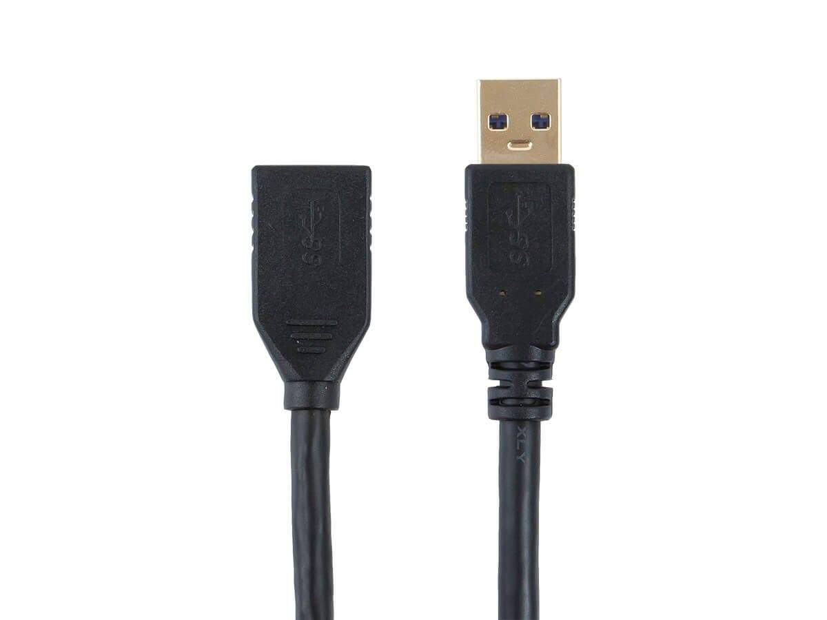 Select Series USB-A to USB-A (F) 3.0 Cable - Black, 3 pack by Monoprice