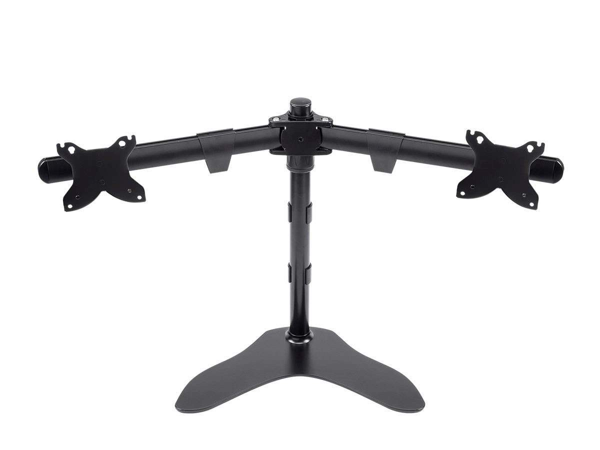 Dual Monitor Free Standing Desk Mount, High-Grade Aluminum And Steel For Up to 30 Inch Displays by Monoprice