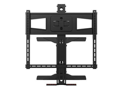 Above Fireplace Height Adjustable Swivel TV Pull Down Mantel Wall Mount for LCD LED Plasma Screen Displays 40