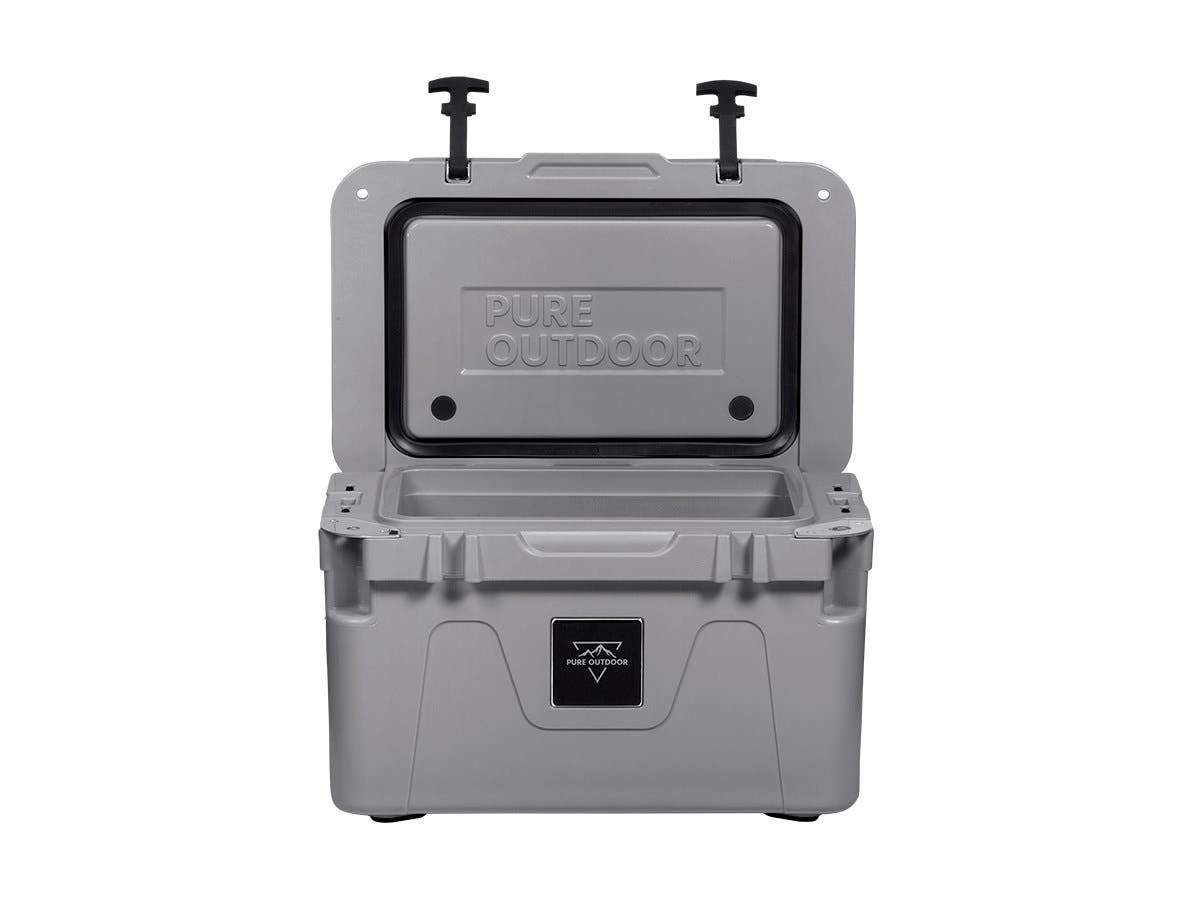 Emperor Cooler - 25 Liters - Gray | Securely Sealed, Ideal for The Hottest and Coldest Conditions - Pure Outdoor Collection by Monoprice
