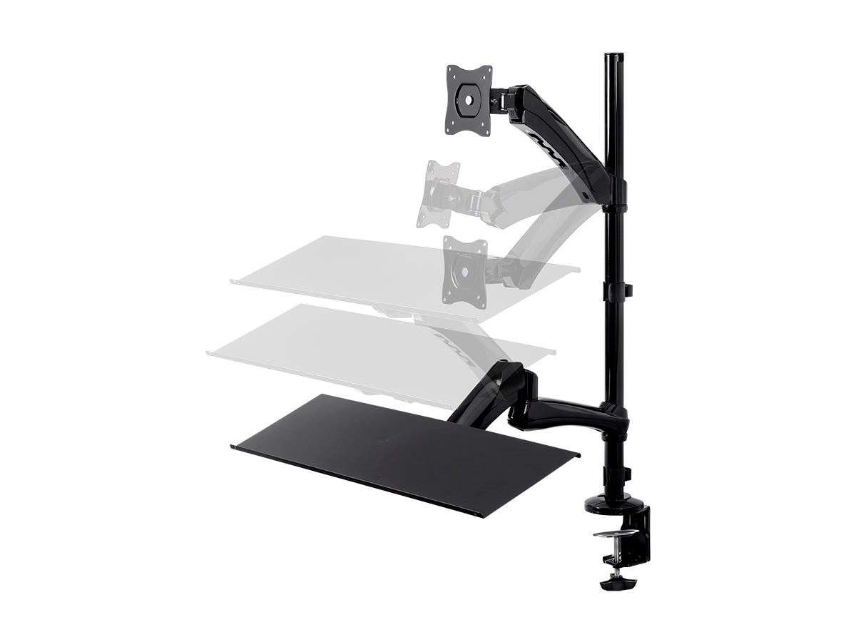 Monoprice Sit-Stand Articulating Monitor and Keyboard Workstation