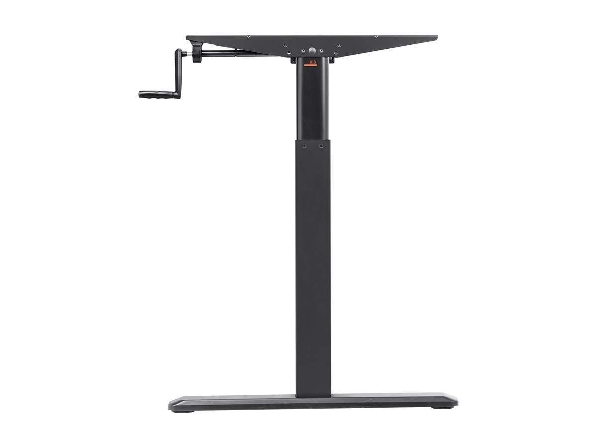 Height Adjustable Sit Stand Riser Table Desk Frame | With Manual Crank | For Desktops From 99cm - 160 cm Wide | Black | Workstream Collection