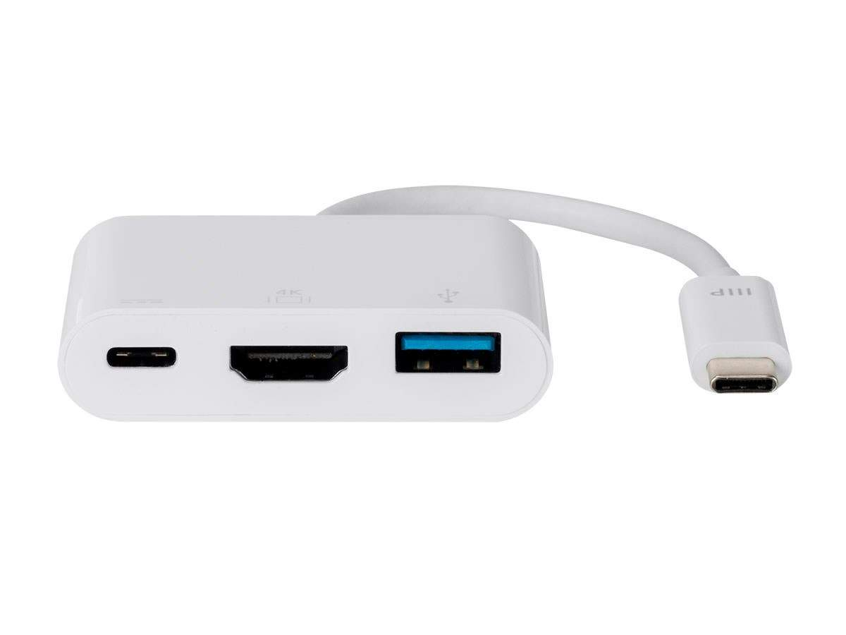 USB-C HDMI Multiport Adapter - White, With USB 3.0 Connectivity & Mirror Display Resolutions Up To 1080p @ 60hz - Select Series by Monoprice