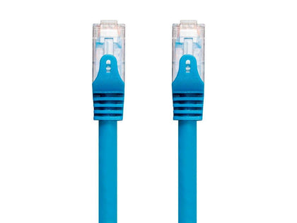 Entegrade Cat6 Ethernet Patch Cable - Snagless RJ45  550Mhz  UTP  CMP  Plenum  Pure Bare Copper Wire  23AWG Blue by Monoprice