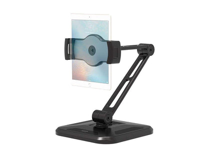 Monoprice Universal Tablet Desk Stand, 360° Rotation, 180° Tilt, Max. Weight 4.45 lbs. (2.02kg), For Wall Or Under A Cabinet Main Image