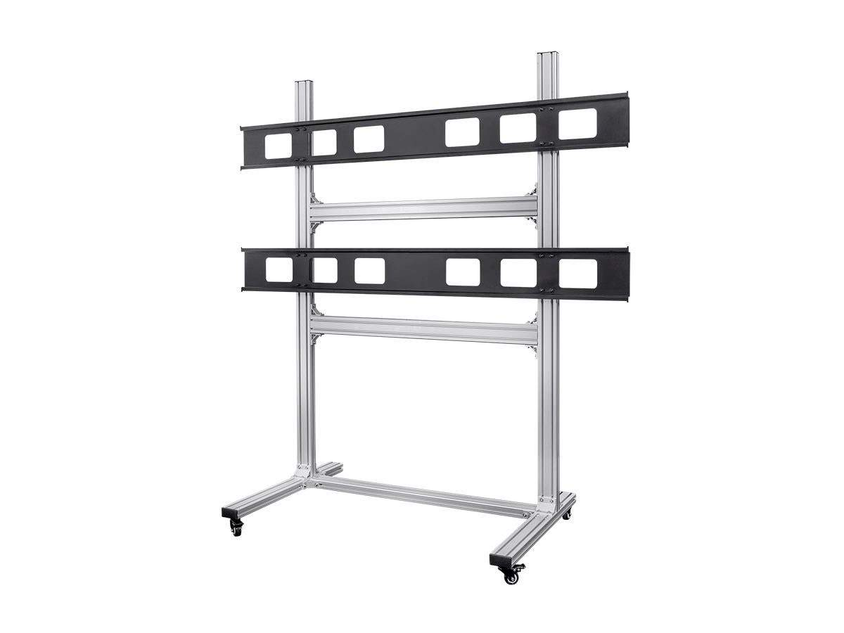 2x2 Video Wall System Bracket with Micro Adjustment Arms For TVs 32in to 55in  Max Weight 100lbs  VESA Patterns Up to 600x400 by Monoprice