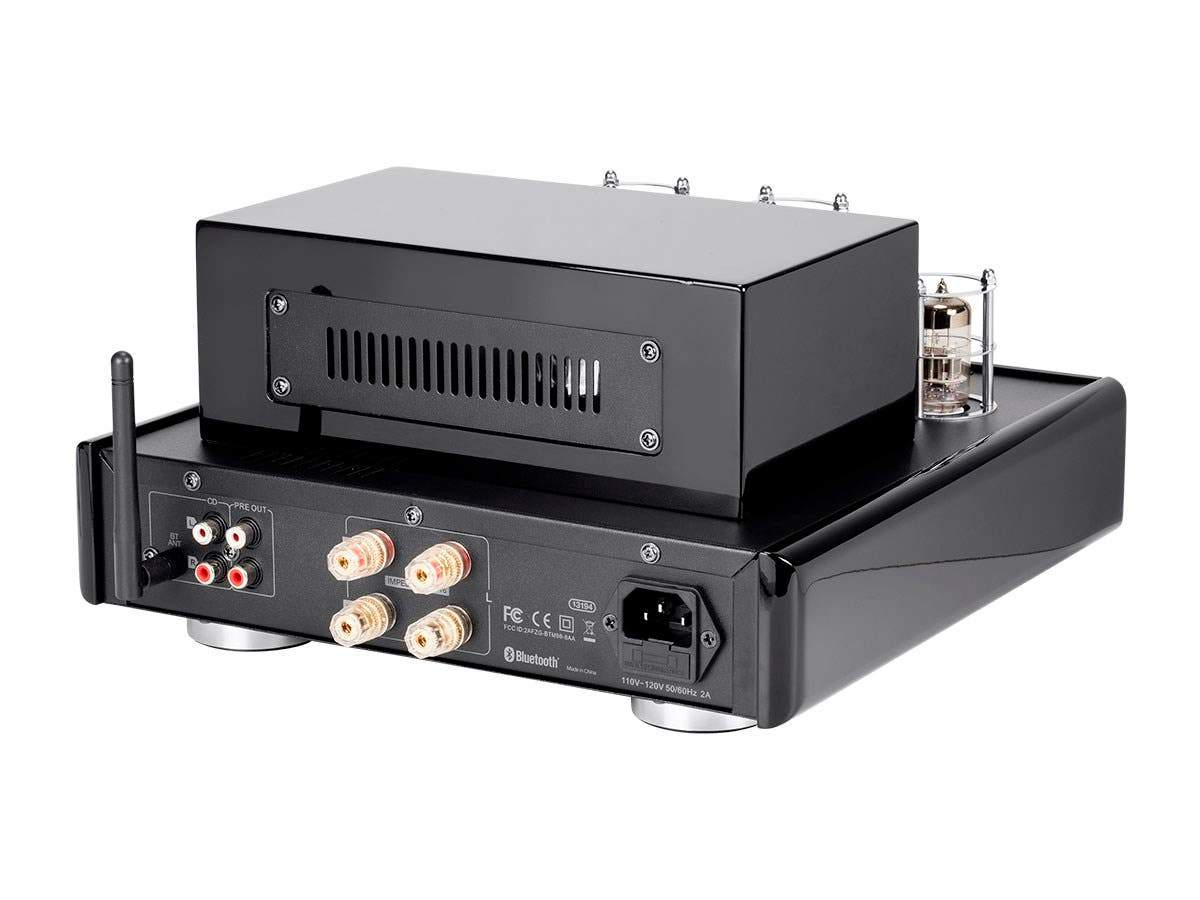 50 Watt Stereo Hybrid Tube Amplifier with Bluetooth & Line Output UK Version by Monoprice