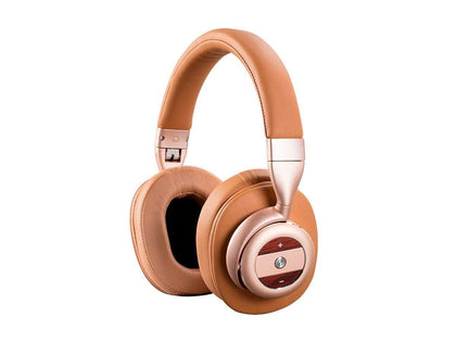 Monoprice SonicSolace Wireless Headphones - Champagne with Tan Over Ear Headphones | Bluetooth, Active Noise Cancelling Main Image