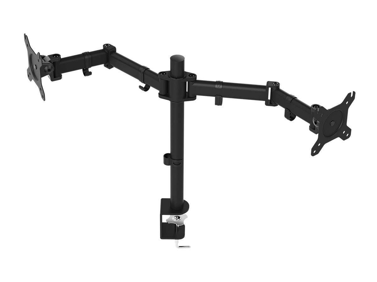 Essential Dual Monitor Articulating Arm Desk Mount | 180° Swivel, 360° Rotation by Monoprice
