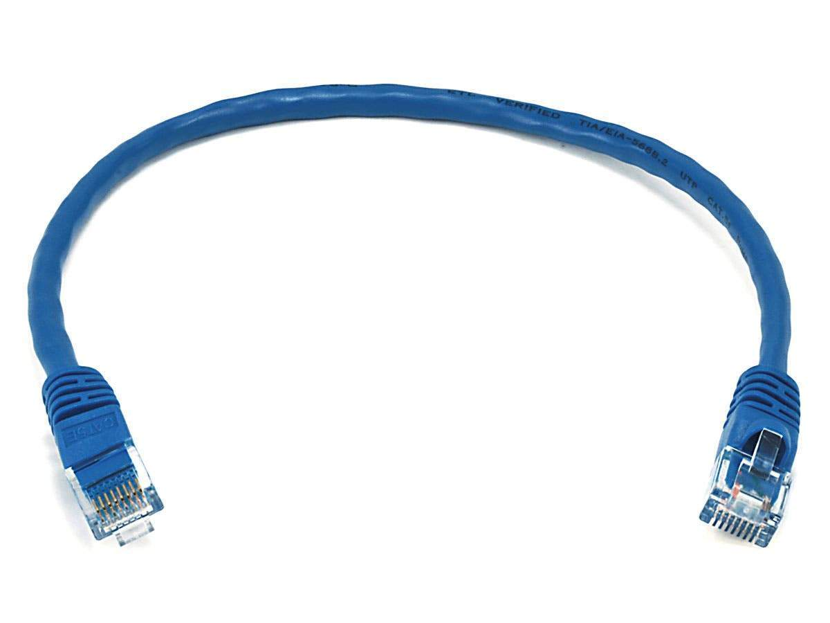 Cat6 Ethernet Patch Cable - Snagless RJ45  Stranded  550MHz  UTP  Pure Bare Copper Wire  24AWG by Monoprice