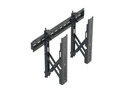 Monoprice Commercial Series Specialty Menu Board TV Wall Mount Bracket with Push-to-Pop-Out - Max Weight 99 lbs., Extension Range of 2.7in to 8.5in, VESA Patterns Up to 600x400, Security Brackets