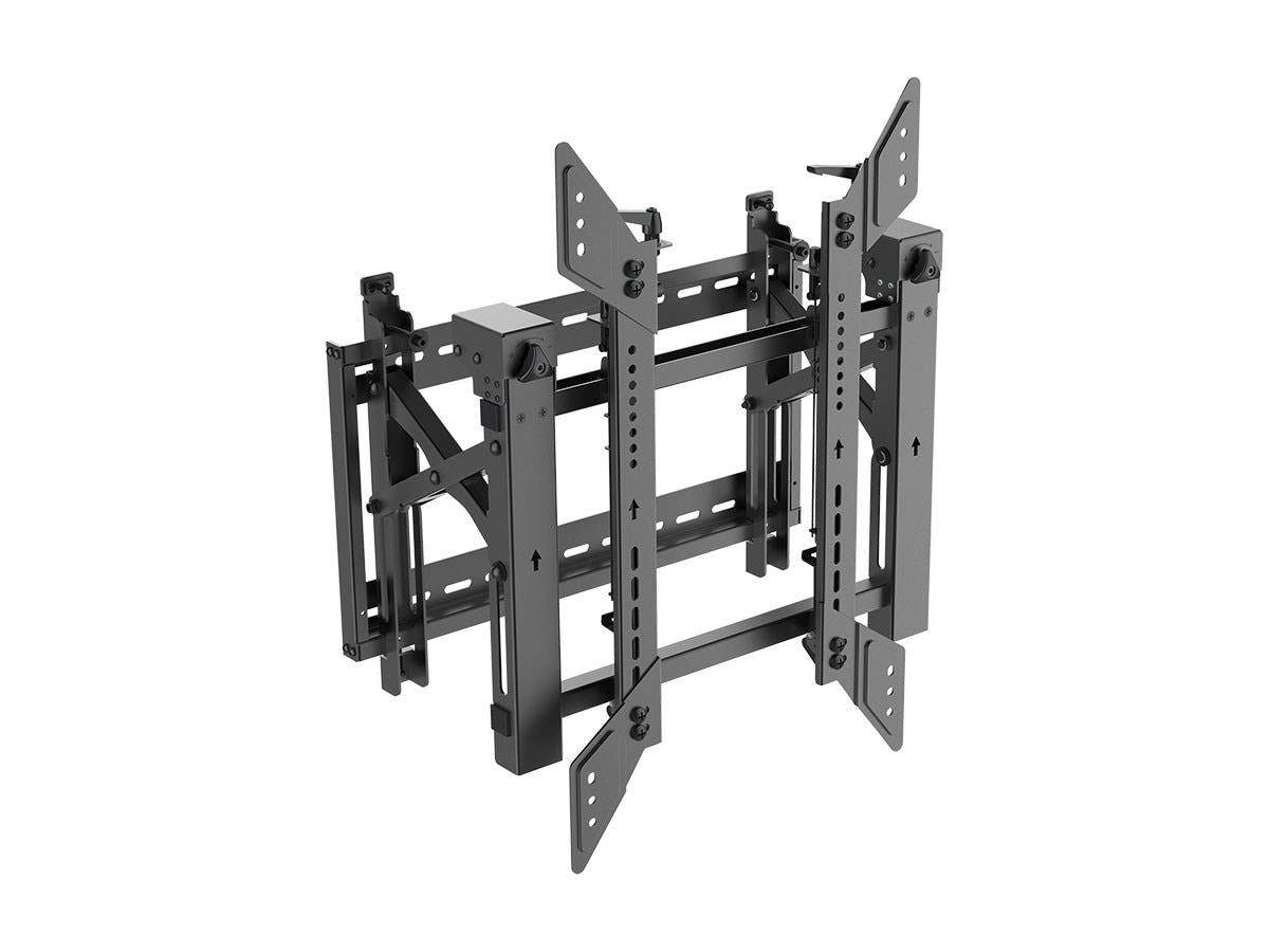 Monoprice Portrait Video Wall System Bracket With Push-to-Pop-Out, Max Weight 68 Kgs. (149lbs), Rotating - Entegrade Series