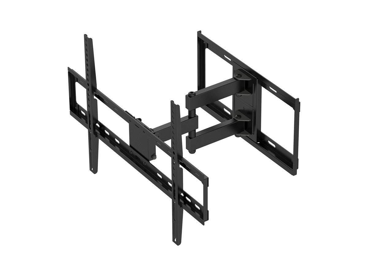 Full Motion Dual Stud Single Arm Wall Mount - Black For Large Up to 177.8 cm TVs Displays, Weighing Up to 35 kg (77 lbs), 200x200 to 600x400 - Titan Series by Monoprice