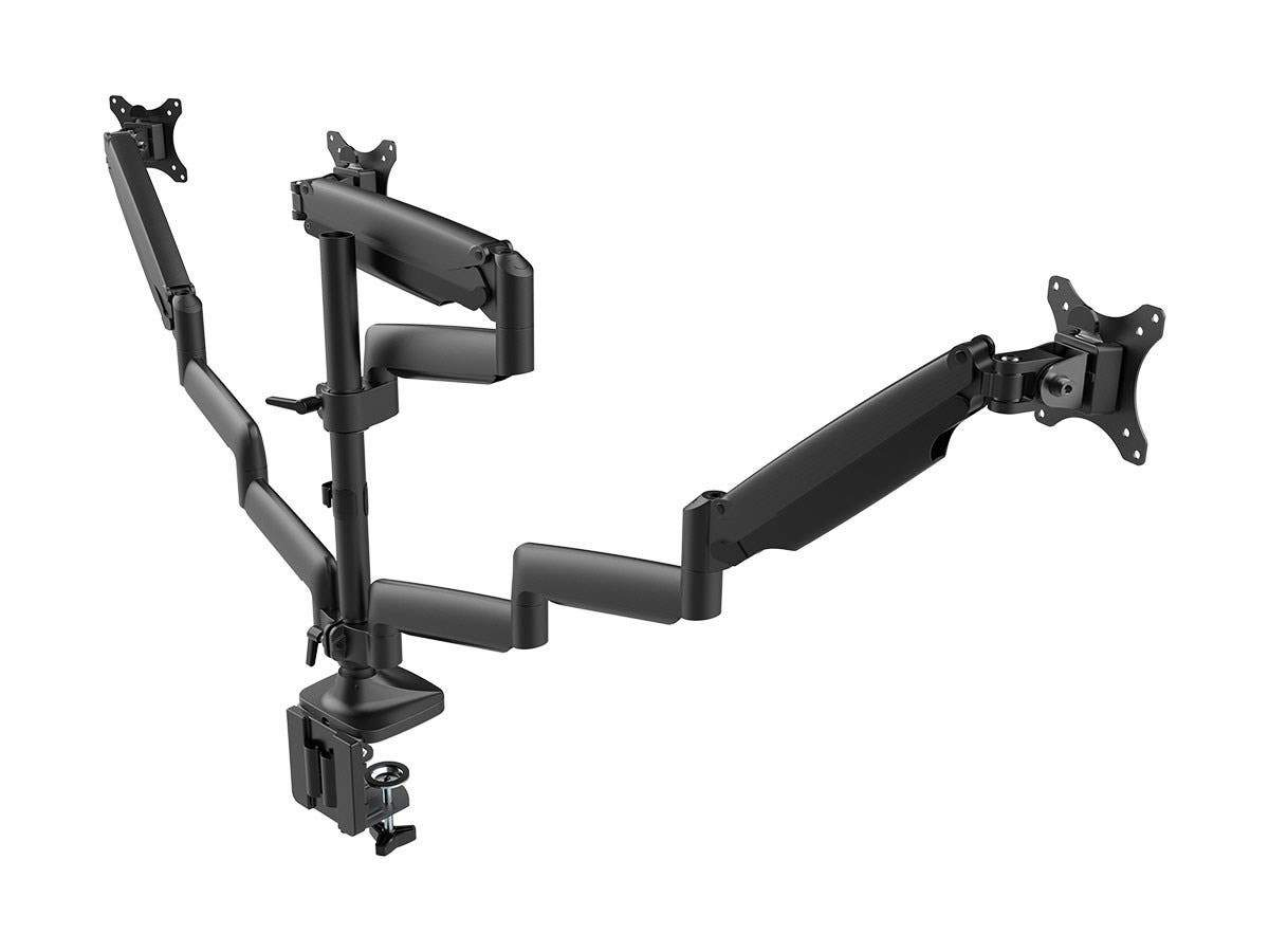 Workstream by Monoprice Triple Monitor Gas Spring Mount for up to 32inScreens, Fully Adjustable Center Mount