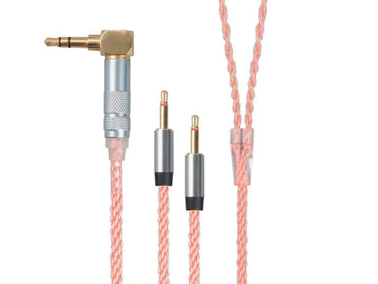 Monolith Headphone Cable 3.5mm and Dual 2.5mm TRS - 1.5M (5ft), Oxygen Free Copper Braided