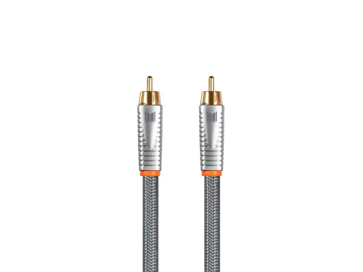 Monolith Digital Audio Coaxial Cable - 1 Meter (3ft) - 18AWG With Nylon Braided Jacket, Oxygen-Free Solid Core Conductors, 24K Gold-Plated Connectors