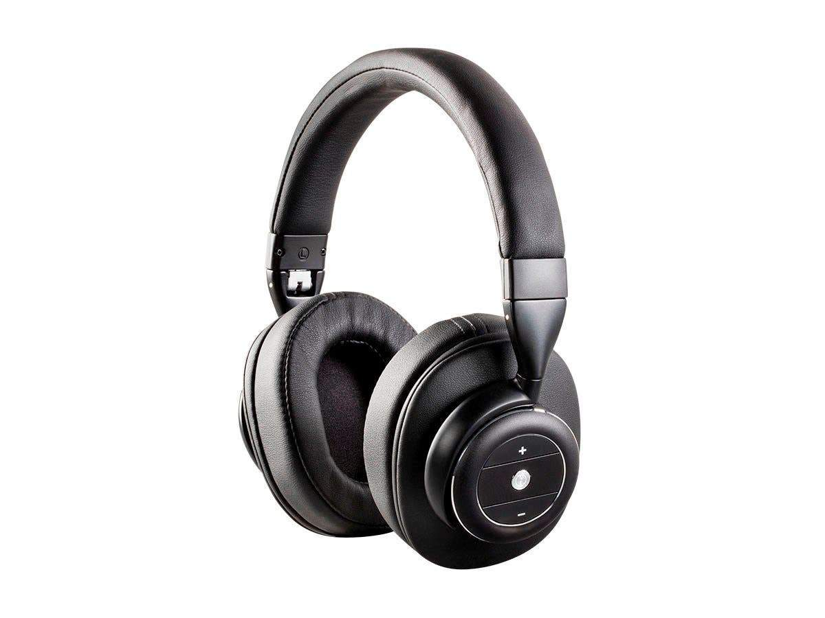 Monoprice SonicSolace Active Noise Cancelling Bluetooth Wireless Headphones, Black Over Ear Headphones