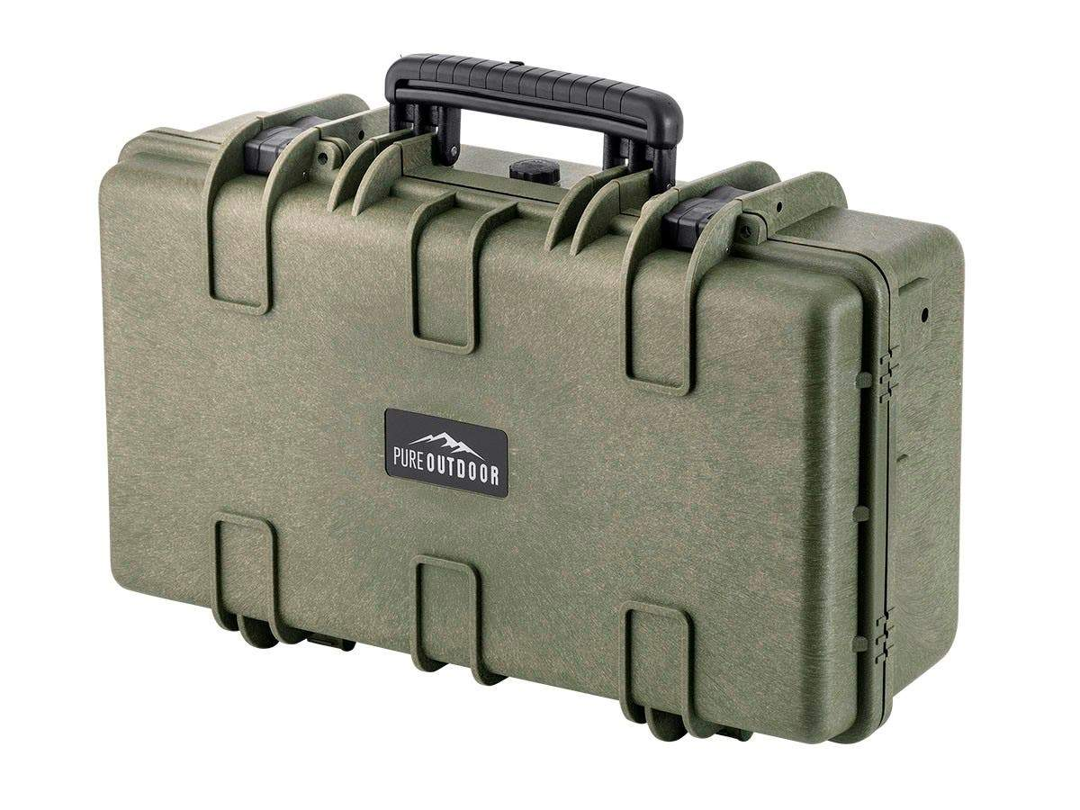 Pure Outdoor by Monoprice Weatherproof Hard Case with Customizable Foam, 22 x 14 x 8 in
