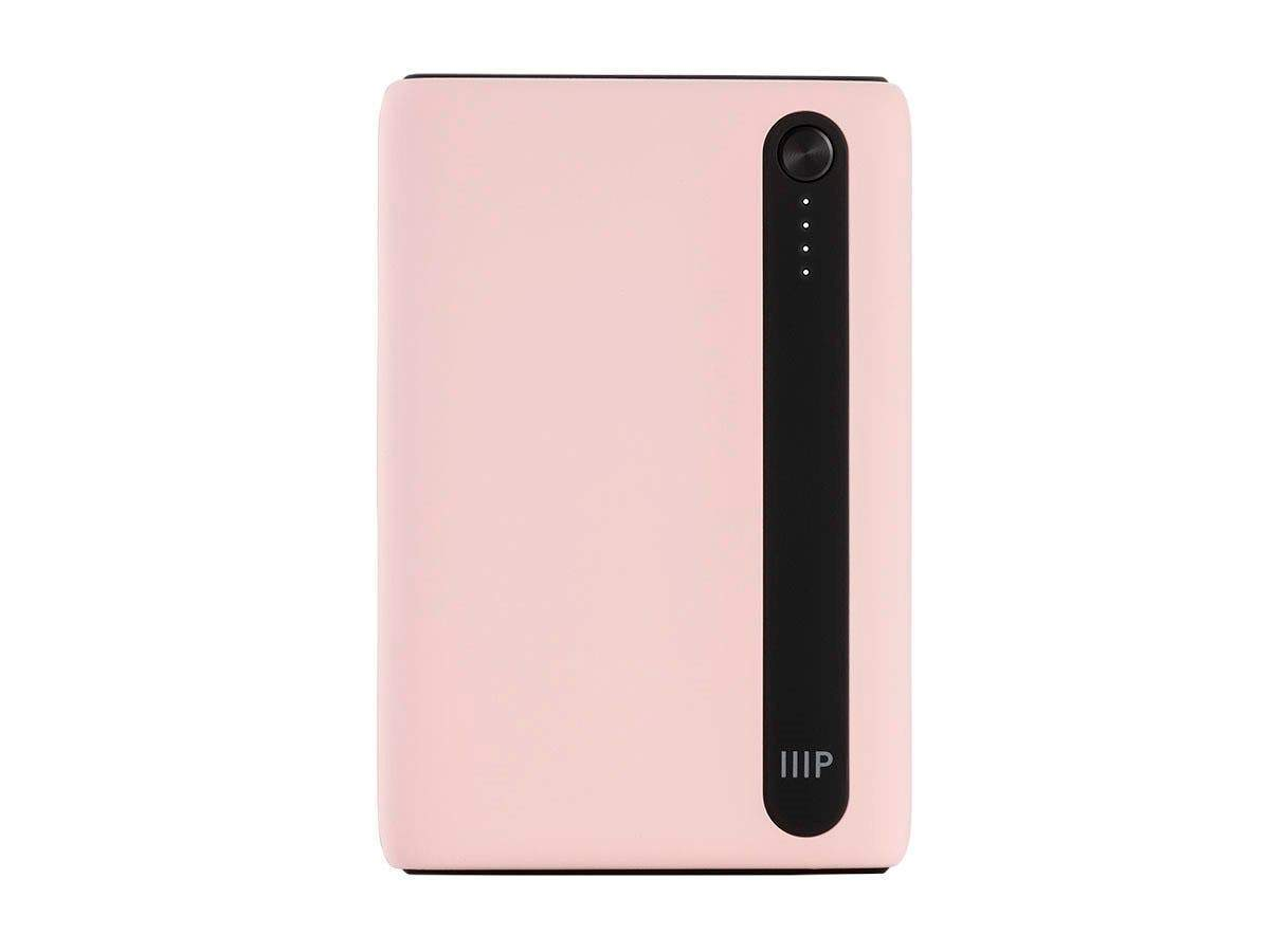Monoprice Obsidian Plus Pocket USB Power Bank, 5,000mAh, 2-Port Up to 2.1A Output for iPhone, Android, and Galaxy Devices