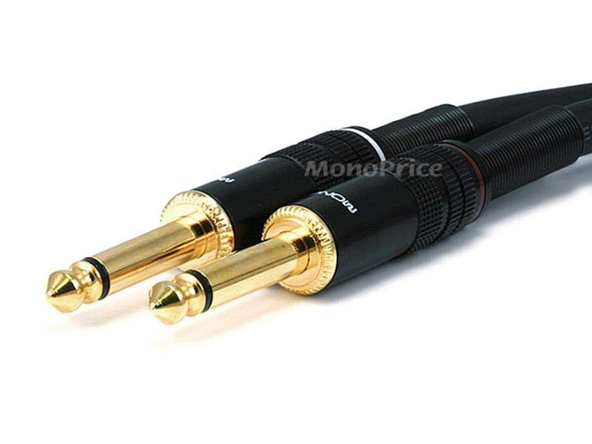 Premier Series 1/4in TS Male to Male Audio Cable  16AWG (Gold Plated) by Monoprice