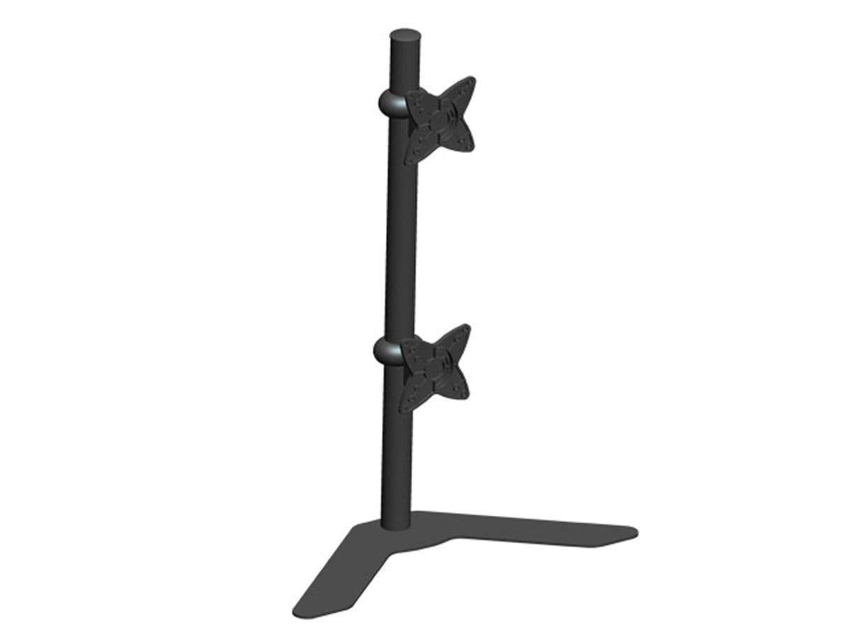 Adjustable Tilting DUAL Desk Mount Bracket for 10~23in Monitors up to 33 lbs  Black by Monoprice