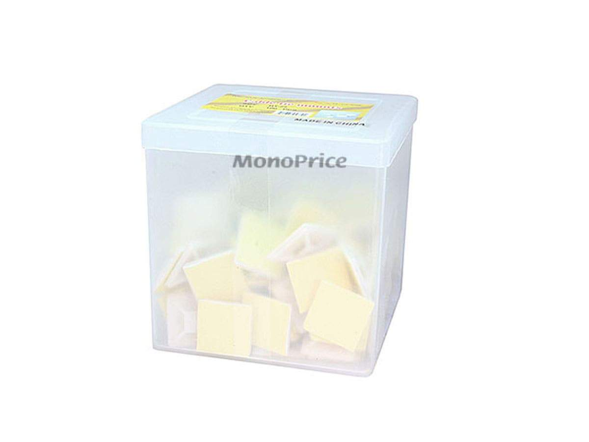 Monoprice Cable Tie Mounts 25x25 mm, 100 pcs/pack, White