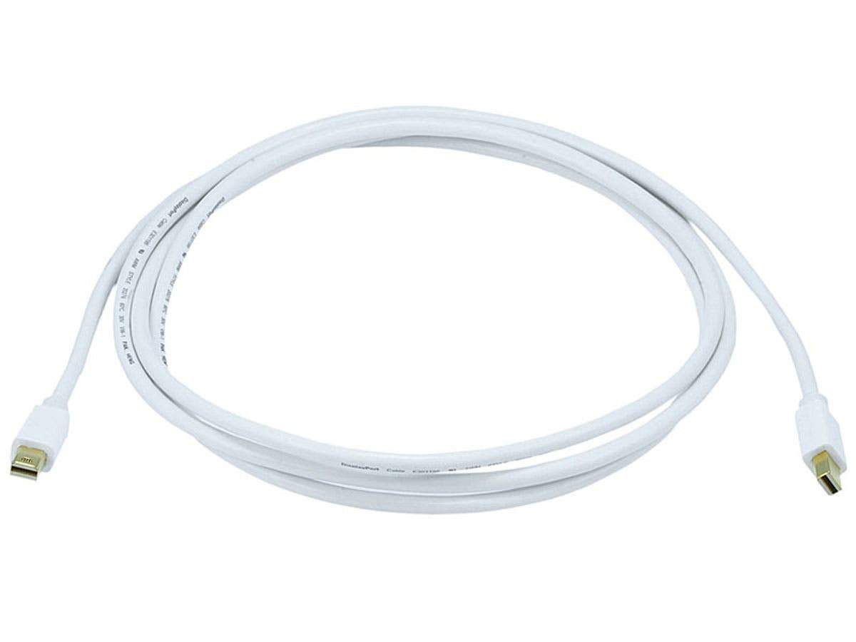 Mini DisplayPort Cable | 32AWG | White | 1.8 m (6 ft)