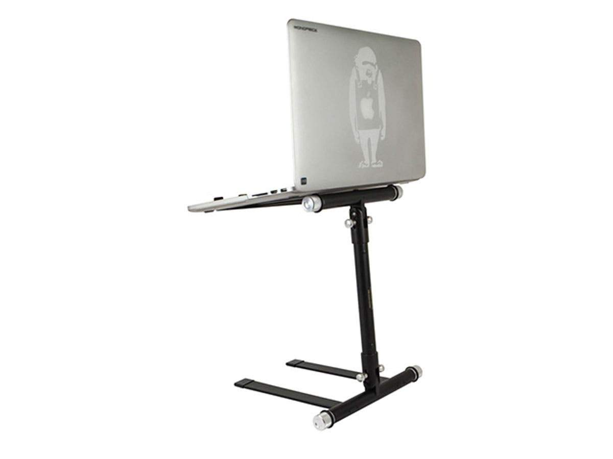 Laptop Stand For DJs, Collapsable For Portability, Supports Laptops Up To 43.1cm (17in) With Max 4.5 Kgs (10lbs) Weight by Monoprice