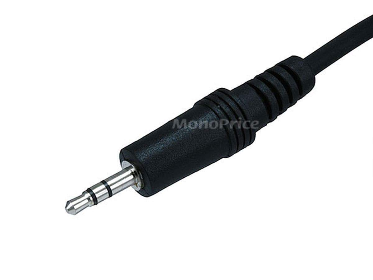 6ft 3.5mm Stereo Plug/Jack M/F Cable  Black by Monoprice