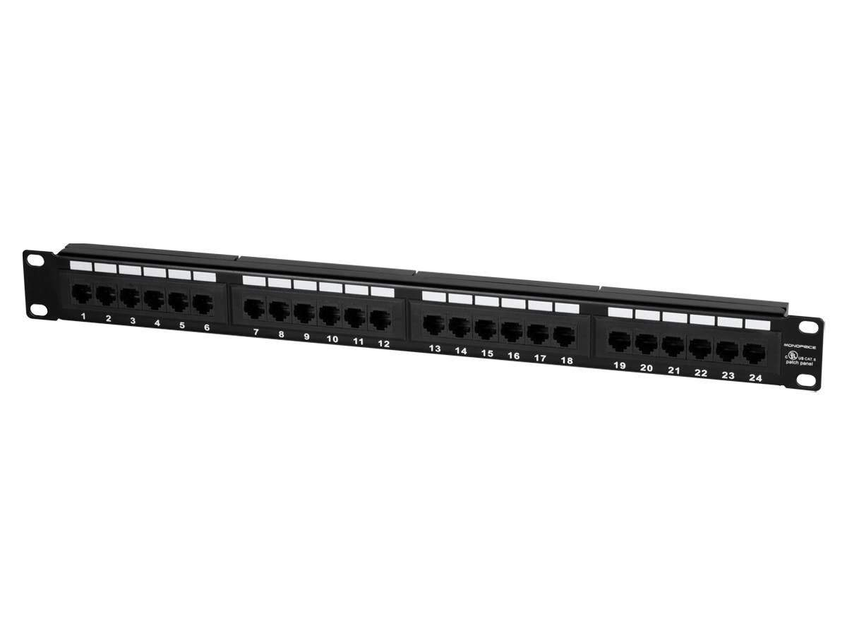24-port Cat6 Patch Panel  110 Type (568A/B Compatible) by Monoprice