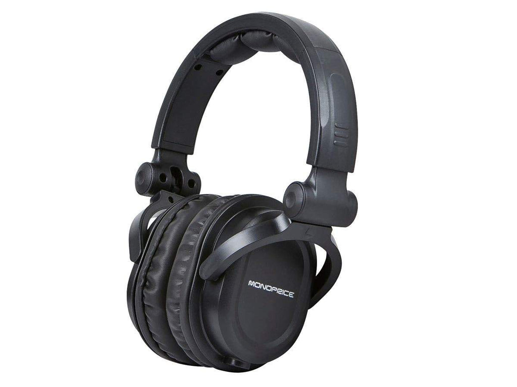 Monoprice Premium Hi-Fi DJ Style Over-the-Ear Pro Headphones with Mic