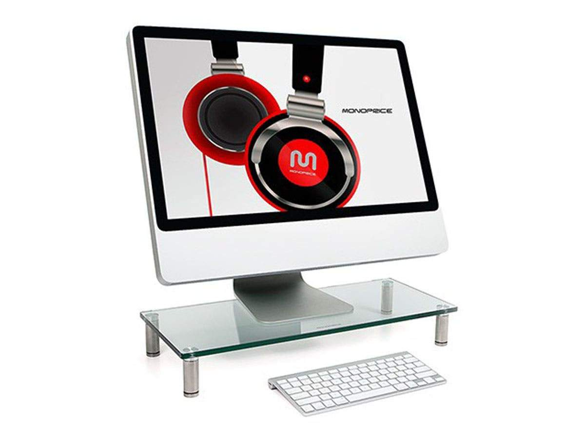 Workstream Multi Media Desktop Monitor Stand 55cm x 24cm (22in x 9.5in)