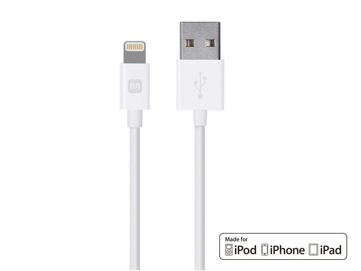 Monoprice Select Series Apple MFi Certified Lightning to USB Charge and Sync Cable, 3 m White