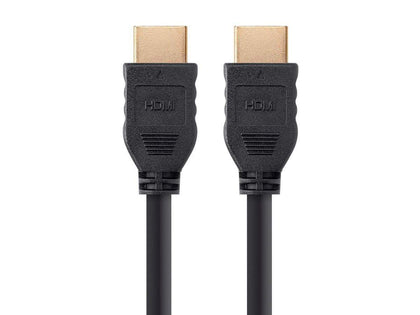 Monoprice Commercial Series High Speed HDMI Cable - 4K@60Hz, HDR, 18Gbps, YCbCr 4:4:4, 32AWG, CL2, Black, No Logo