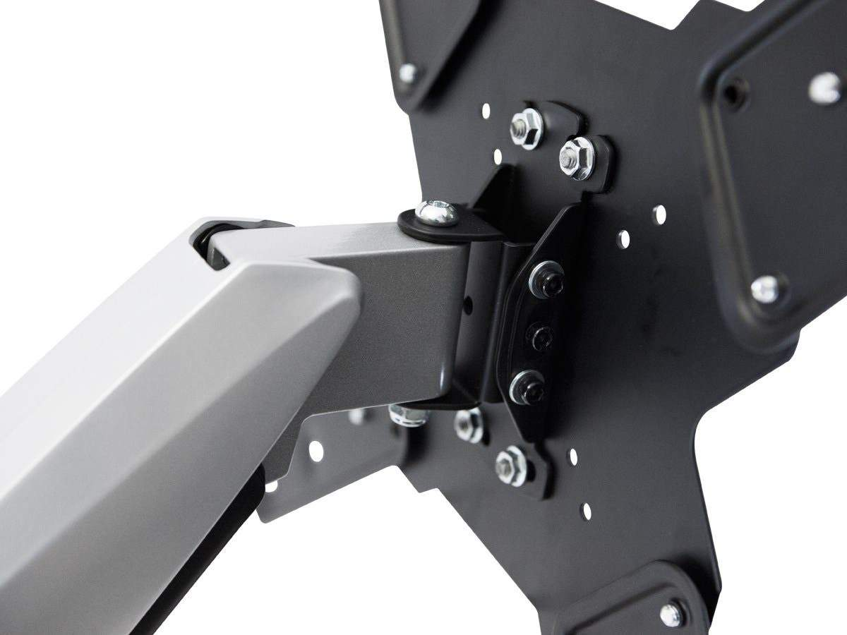 Monoprice EZ Series Full-Motion Articulating TV Wall Mount Bracket For TVs 42in to 66in, Max Weight 66lbs, Extension Range of 2.3in to 23.4in, VESA Patterns Up to 400x400, UL Certified