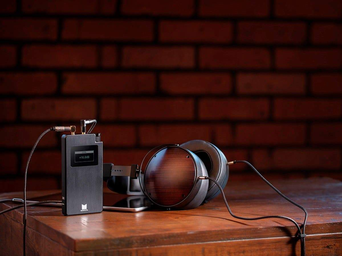 Monolith Portable Headphone Amplifier and DAC - Black With THX AAA Technology, Analog Input, Slim Design, Dirac Sensaround by Monoprice