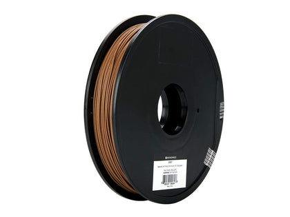 Monoprice MP Specialty 3D Drucker Filament - Walnut - 0.5kg/spool, 1.75mm Thick, 60% Copper Bonded Together By Polymer Binders Main Image