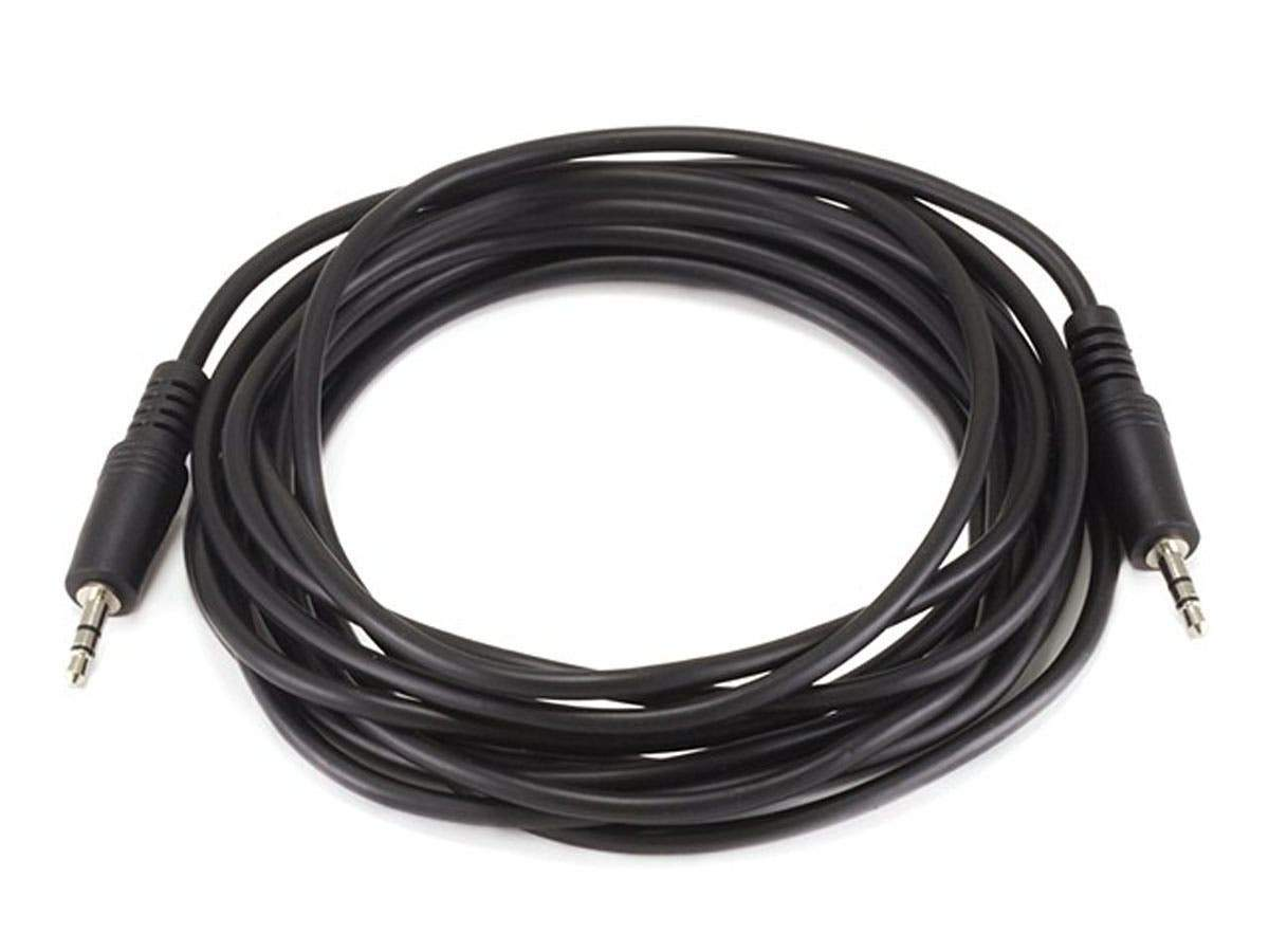Monoprice 3.5mm Stereo Plug/Plug M/M Cable - Black