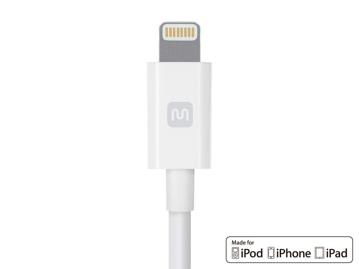 Monoprice Select Series Apple MFi Certified Lightning to USB Charge and Sync Cable, 10ft White