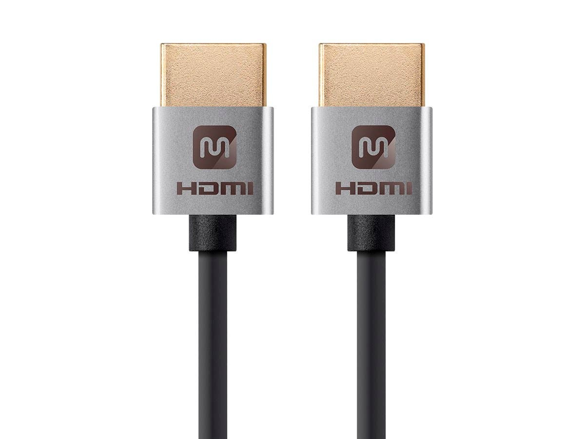 "Câble High Speed HDMI Monoprice - 15 cm (6"") - Noir, 4K@24Hz, 10,2 Gbps, 36 AWG, YUV, 4:2:0 - Ultra fin"