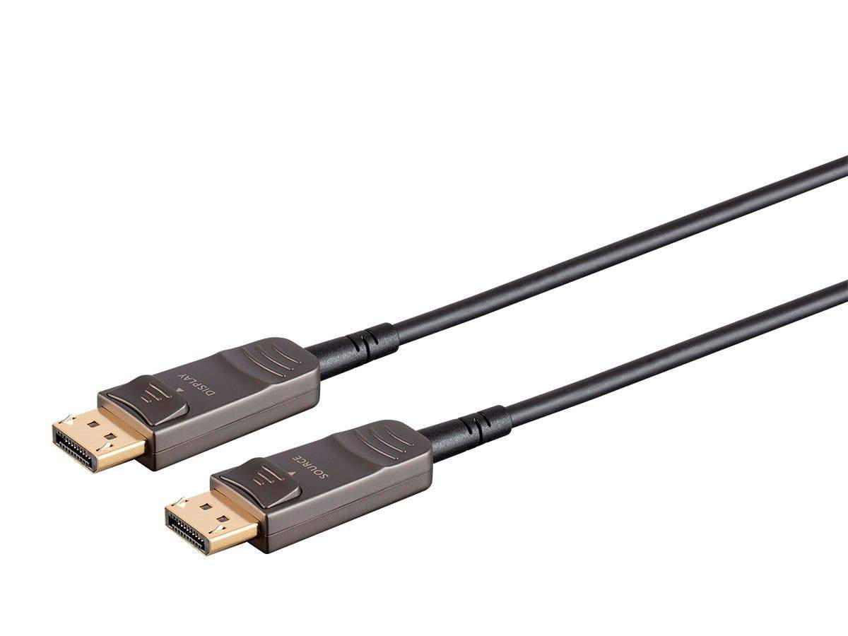 Monoprice SlimRun AV DisplayPort Cable, 32.4Gbps, 8K@30Hz, 5K@60Hz, 4K@120Hz, Fiber Optic, AOC, Black