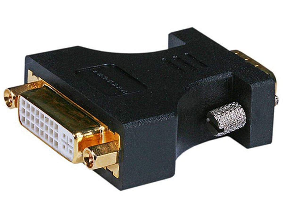 Monoprice HD15 (VGA) Male to DVI-A Female Adapter (Gold Plated)